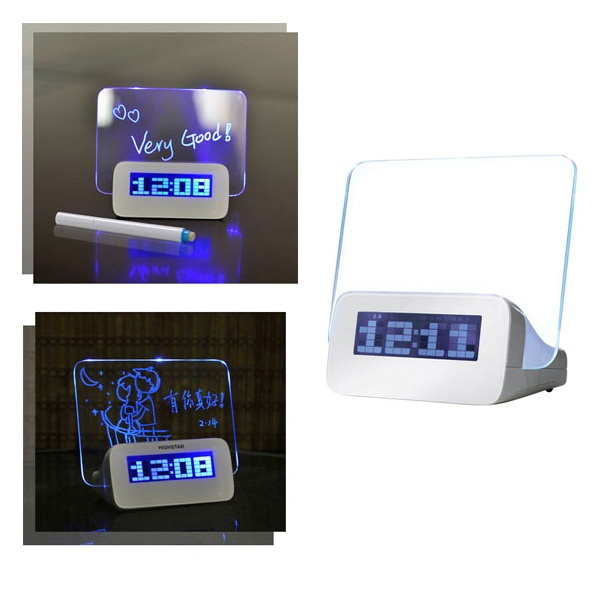 LED Message Board / Digital Alarm Clock / USB Hub 4-Port