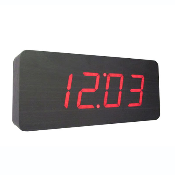 New Design Wood LED Digital Clocks,Voice woke Digital LED Alarm Clock ...