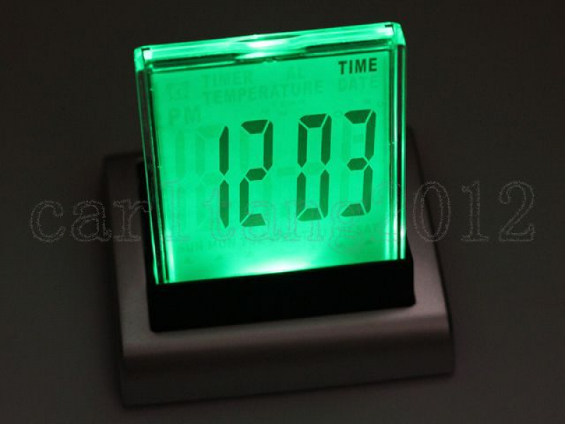 LED Digital LCD Desktop Design Alarm Clock Thermometer-in Alarm Clocks ...