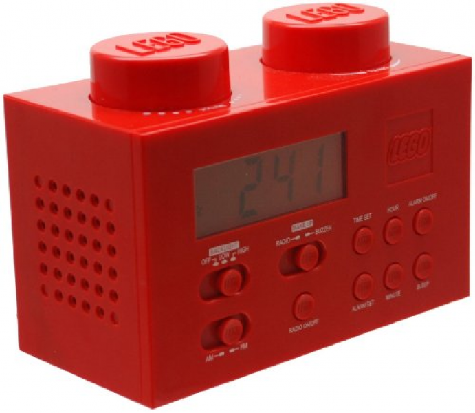 Toy: LEGO Alarm Clock Radio - Red