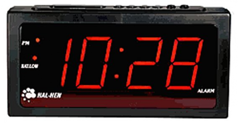 When I was a kid, I had a digital alarm clock that displayed numbers ...