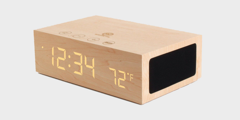 Showing Gallery For Modern Wood Alarm Clock