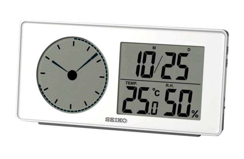 QHL059W New Seiko Battery Powered Analogue Digital Alarm Clock | eBay