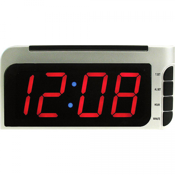 Elgin Bedside Alarm Clock with Auto-Set - Walmart.com