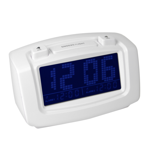 AM PM Auto Digital Dual Time SET Blue LED Snooze Alarm Clock Piano ...