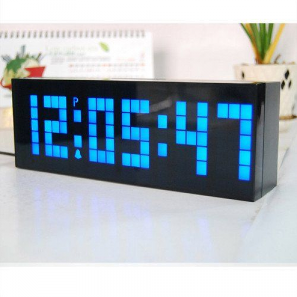 KEEDOX® Digital Large Big Jumbo LED snooze wall desk alarm calendar ...