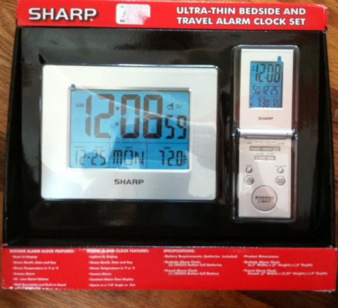 Sharp electronic travel alarm clock digital with temperature Review