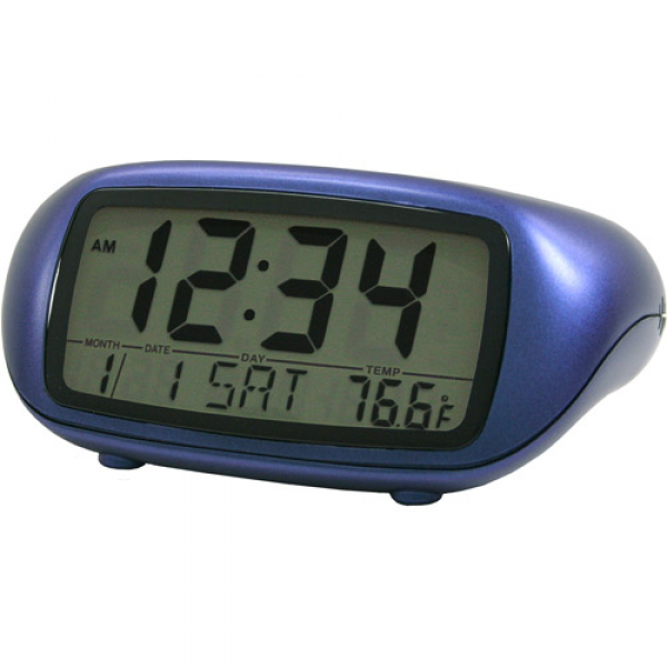 La Crosse Technology Equity Blue LCD Alarm Clock - Walmart.com