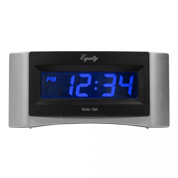 Equity by La Crosse Insta-Set Digital Alarm Clock with Blue LCD ...