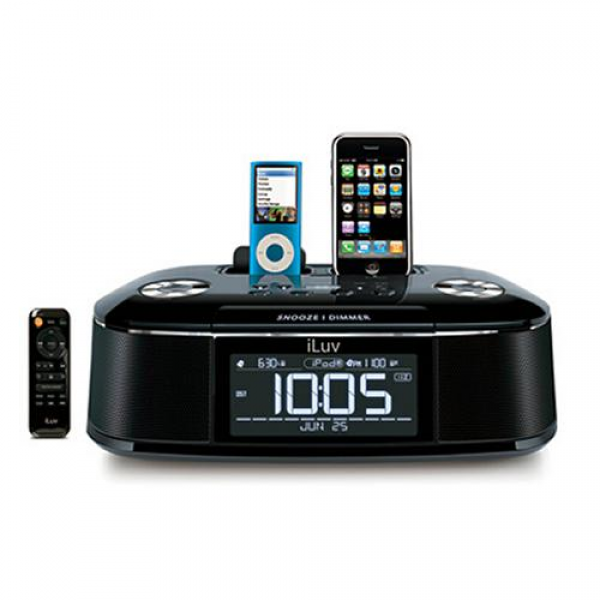 iLuv iMM173 Audio System with Dual Docks & Dual Alarm Clock
