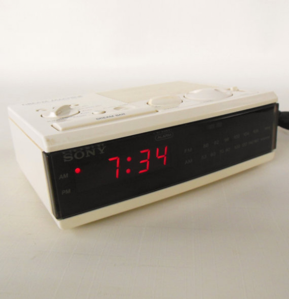 Sony Dream Machine Alarm Clock Radio ICF-C3W 80s Vintage Electronics