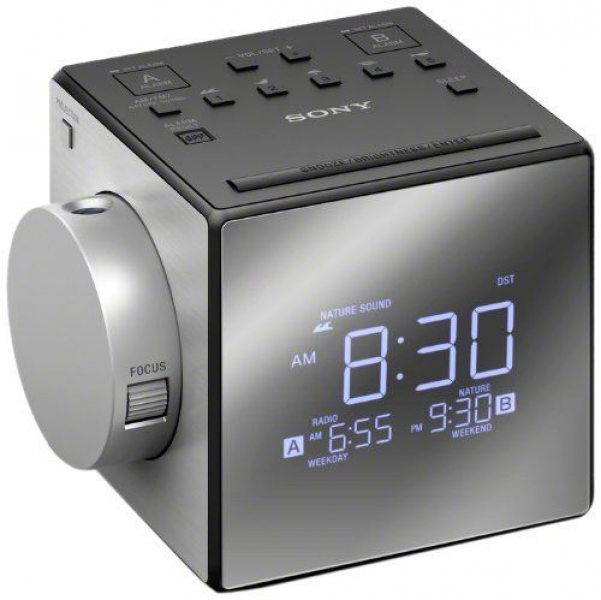 Sony - AM/FM Dual-Alarm Clock Radio (027242875333)