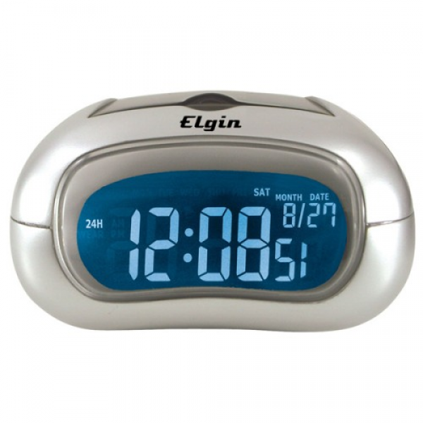 Elgin 3455E Electric Alarm Clock with Selectable Display Color ...