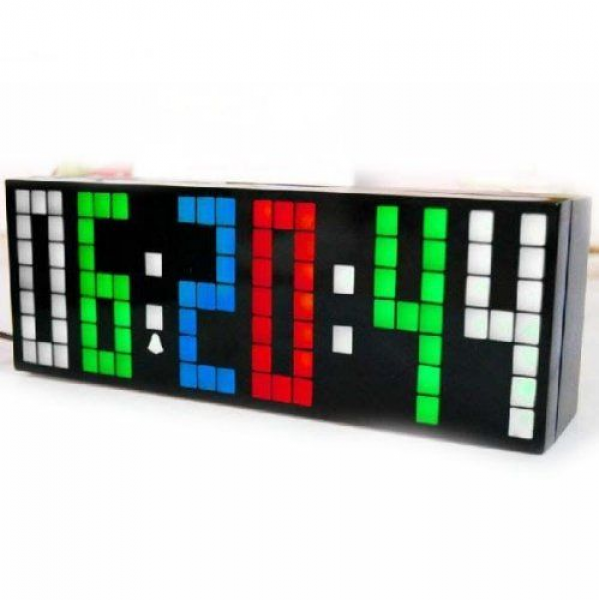 Generic 2 Generation Digital Large Big Number Jumbo LED Alarm Clock ...