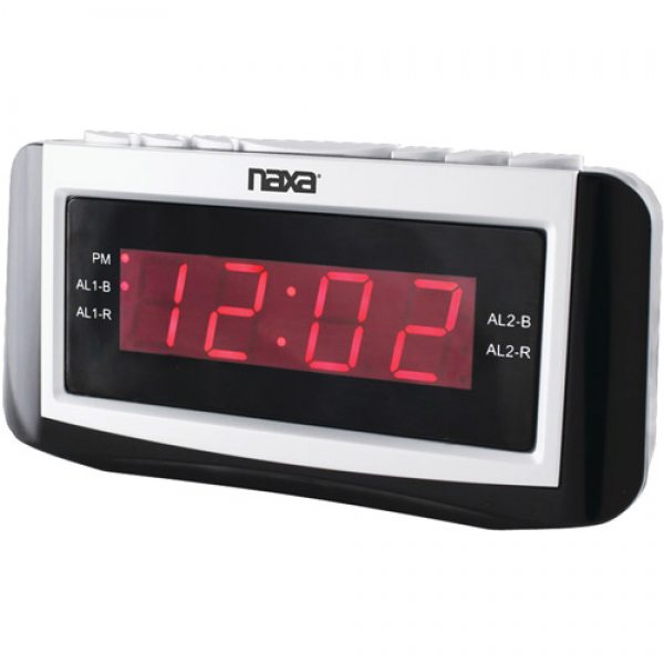 Naxa NRC171 Digital Alarm Clock with Large LED Display - Walmart.com