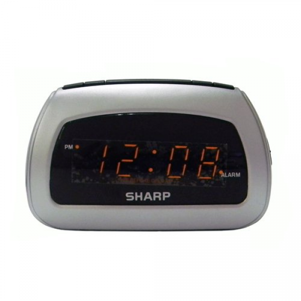 Sharp LED Alarm Clock, Silver: Decor : Walmart.com