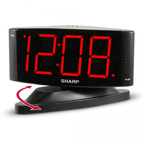 Sharp 1.8 Red LED Dimmer Alarm Clock - Walmart.com