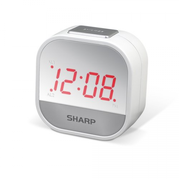 Sharp 1 Red LED Dual Alarm Clock: Decor : Walmart.com