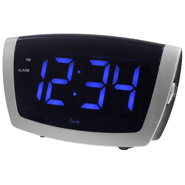 Large Blue LED Alarm Clock with USB Port - Overstock Shopping - Great ...