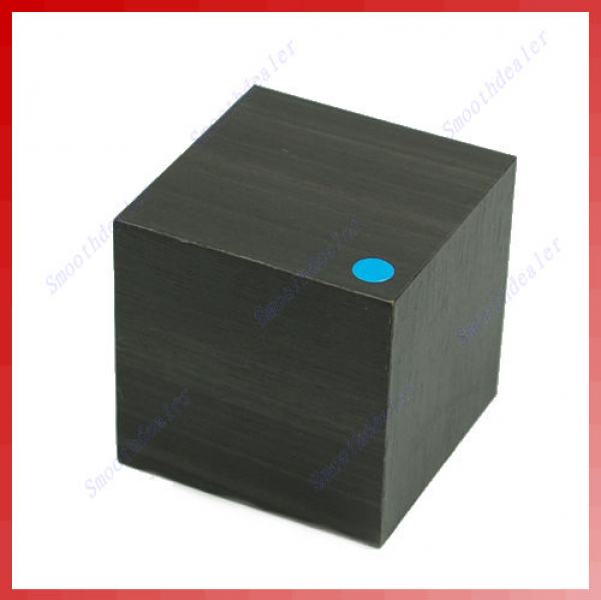 Details about LED Modern Blue Wood Wooden USB/AAA Cube Alarm Clock