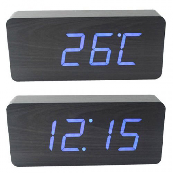 ... if you want something different, try this Wood Grain LED Alarm Clock