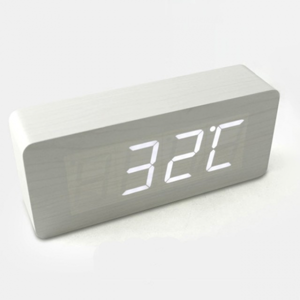 Hito Wood Grain LED Alarm Clock - Contemporary - Alarm Clocks - by ...