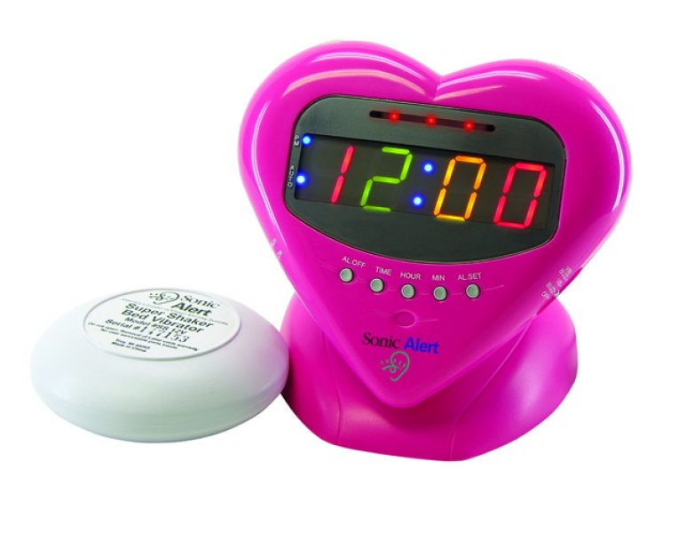 Sonic Alert SBH400ss Pink Clock with Bed Vibrator Shaker - Read ...