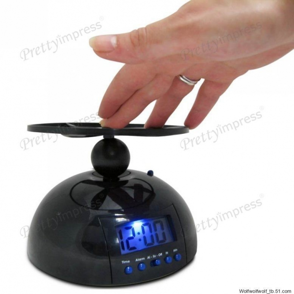 ... Lifestyle Gadgets / New Annoying Flying Helicopter Digital Alarm Clock