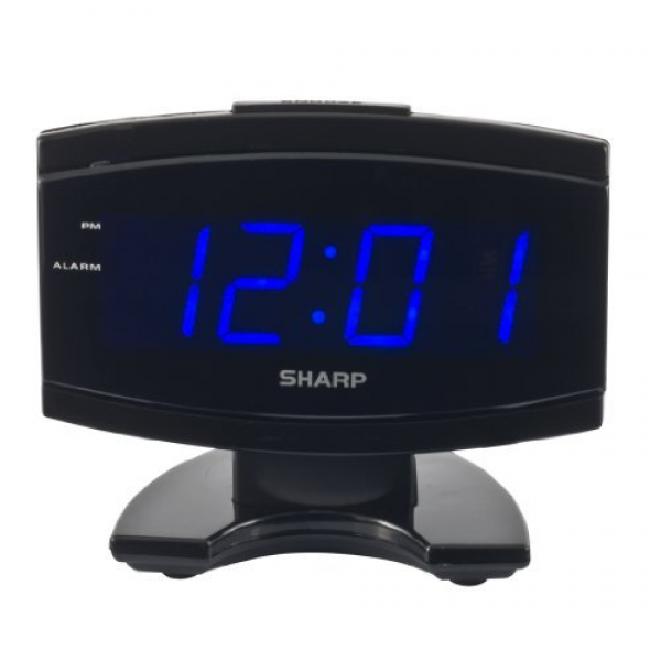 Sharp Spc106x Led Alarm Clock Black from Sharp - Decorstuff.com