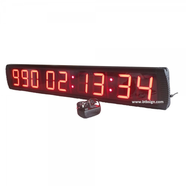 9DIGITS Red LED Countdown Clock Digital Timer Count Down Up Days ...