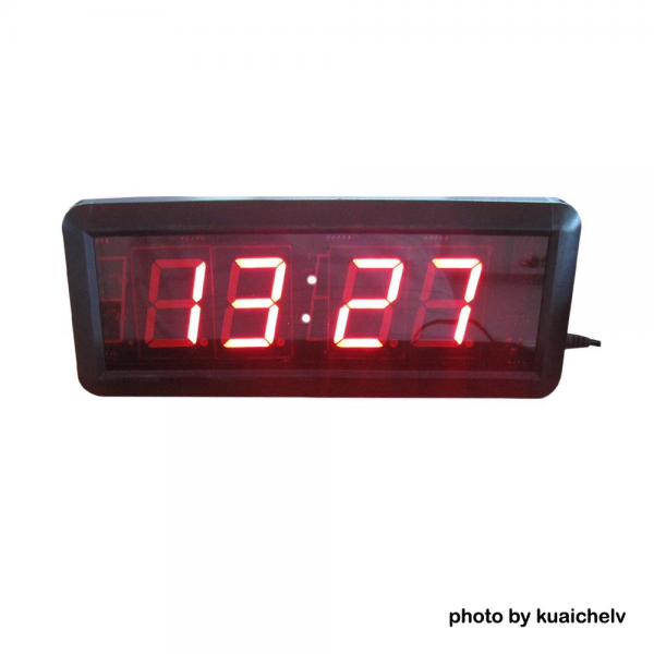 LED Digital Wall Clock Hours Minutes Format with Countdown/up ...