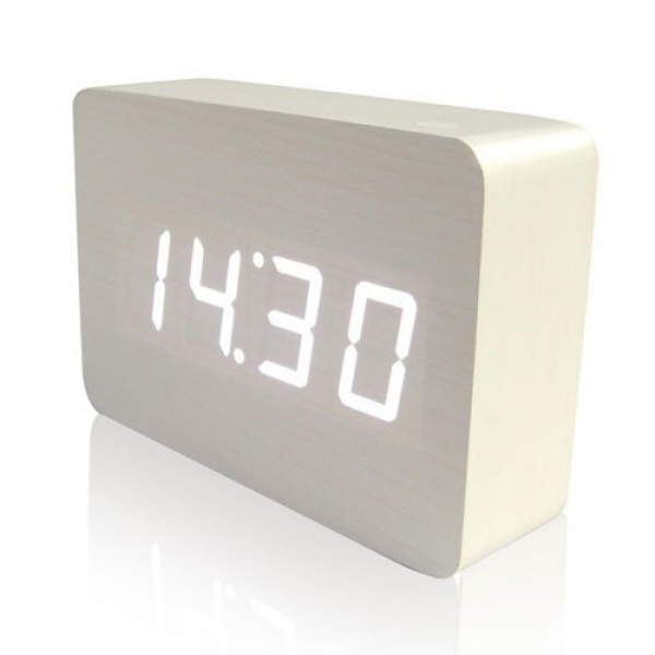 LED Wooden Wood Digital Alarm Clock(thin style)