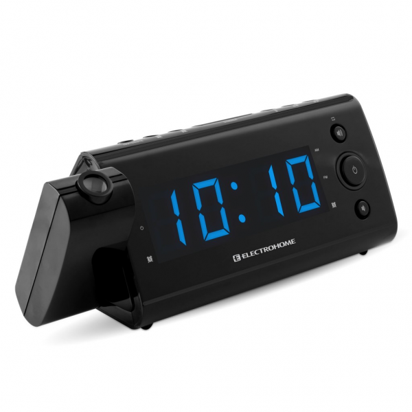 USB Clock Radio with Auto Time Set, Time Projection and USB Charging ...