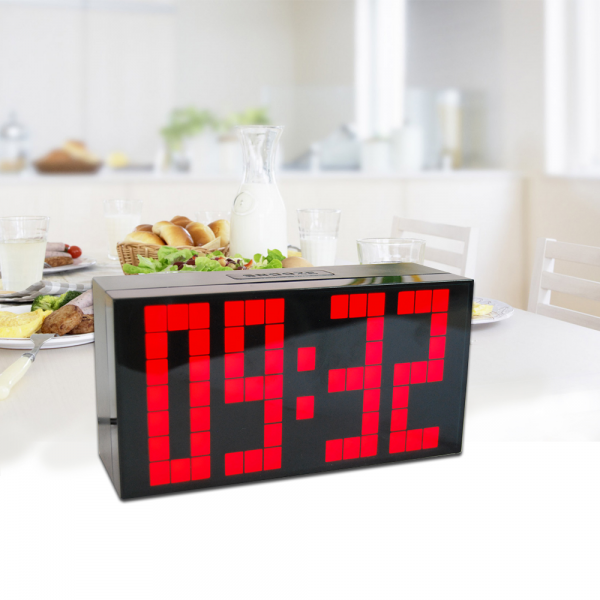 Big Number Timer Digital LED Clock Wall Desk Table Alarm Clock Snooze ...