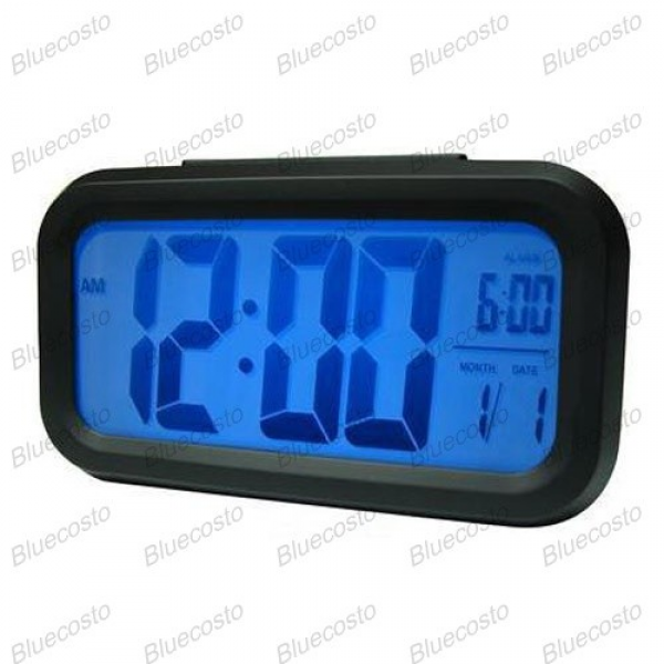 ... Snooze Light Large LCD Display Digital Backlight Calendar Alarm Clock