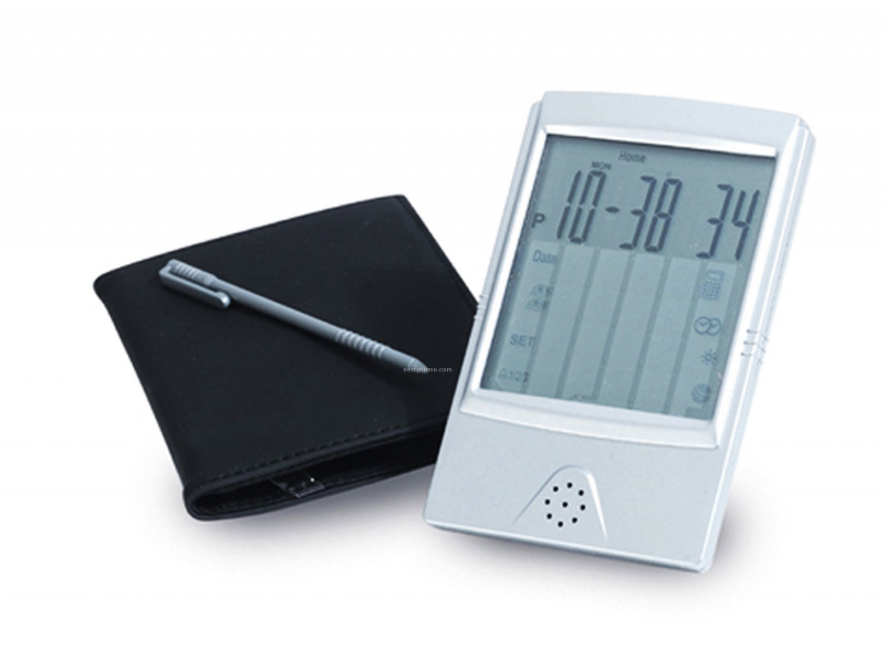 Touch Screen Travel Alarm Clock & Calc.