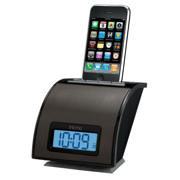 iHome Alarm Clock iPod Touch iPhone 3GS 4 Dock Charger Sync with ...