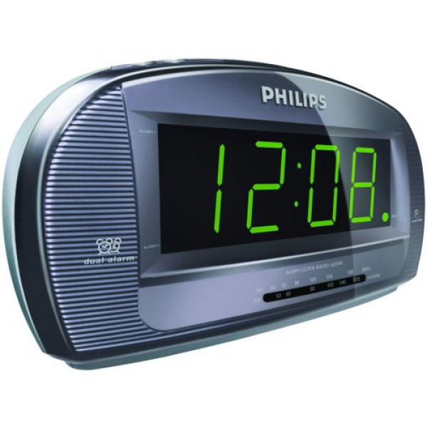 PHILIPS AJ3540/37 LARGE DISPLAY DUAL ALARM CLOCK RADIO