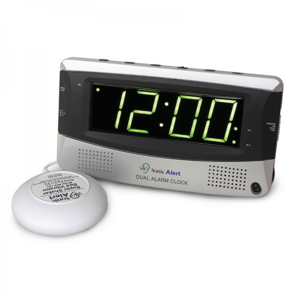 sonic alert large display dual alarm clock sbd375ss by sonic alert see ...