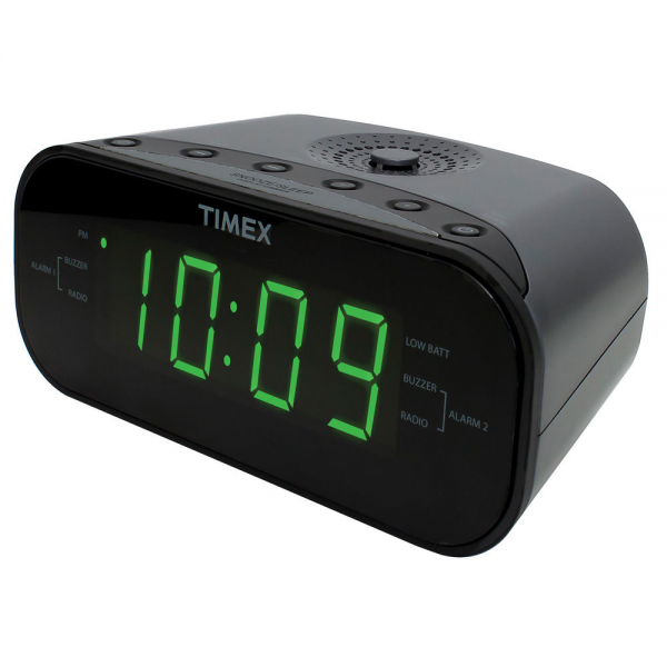 Timex Large Display LED Dual Alarm Clock Radio | eBay