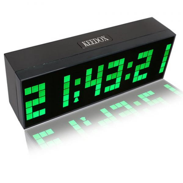 ® Large Digital Display Jumbo LED Wall Desk Calendar Alarm Clock ...