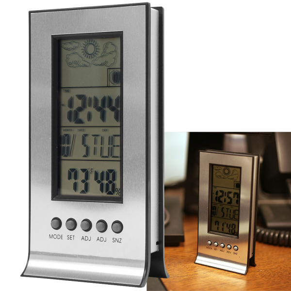 Details about Digital Weather Station with Alarm Clock + Thermometer