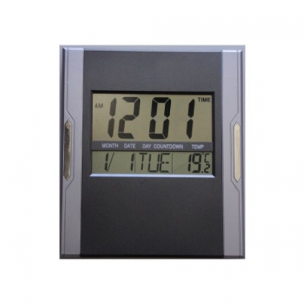 ... about Jumbo Digital LCD Calender wall alarm clock with Temperature