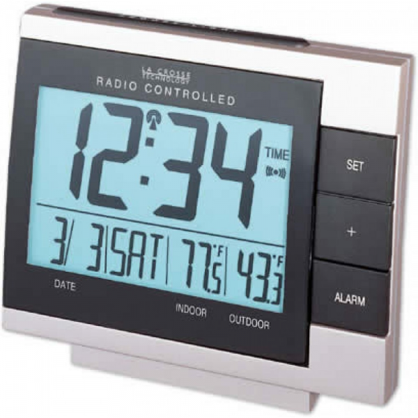 WS-8056U Digital Alarm Clock with IN/OUT Temperature RECONDITIONED