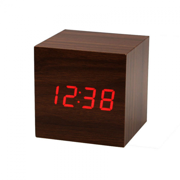 Mini-Cube-Style-Digital-Red-LED-Wooden-Wood-Desk-Alarm-Brown-Clock ...