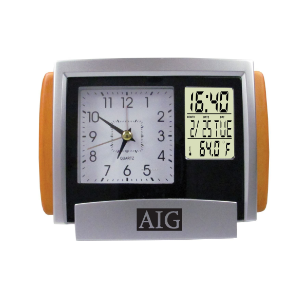 Dual Time Analog And Digital Alarm Clock With Calendar,China Wholesale ...