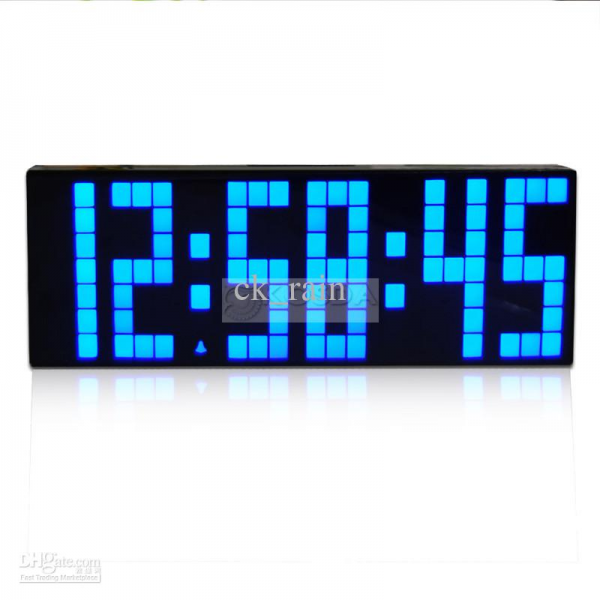 Clock Display Jumbo Large Digital Wall Alarm Countdown World Clock ...
