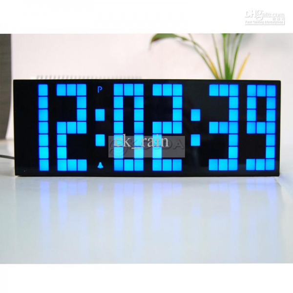 Digital Big Jumbo LED Countdown Temperature Calendar World Timer Wall ...