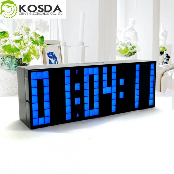 Digital Large Big Jumbo LED Countdown Wall Alarm Clock Desk Clock ...