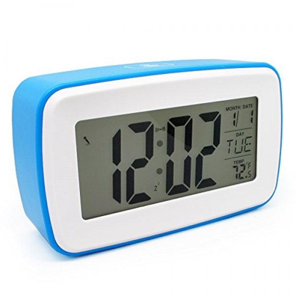 Jcc Smart Light Voice Recording Digital Snooze Alarm Clock, Timer With ...